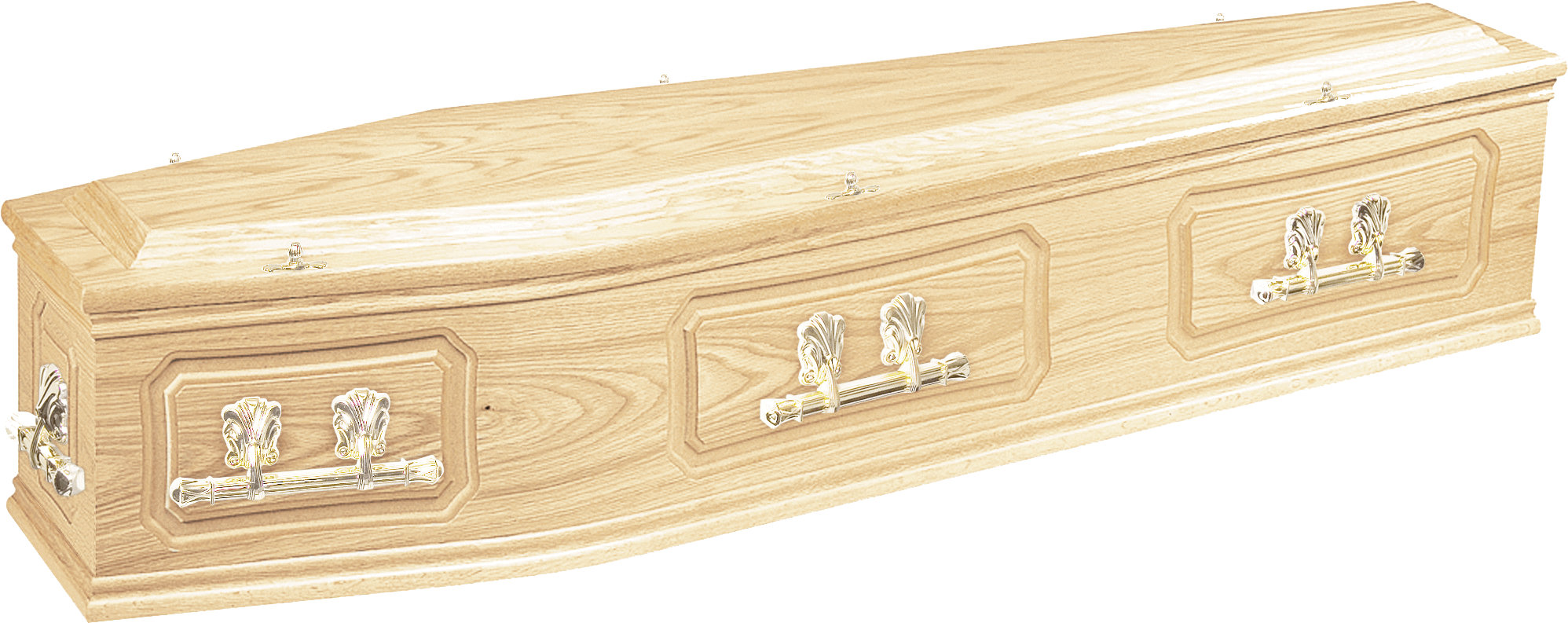 Traditional brinkley oak coffin