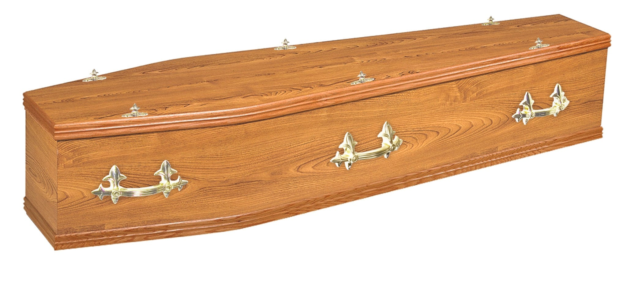 Traditional rookwood elm coffin